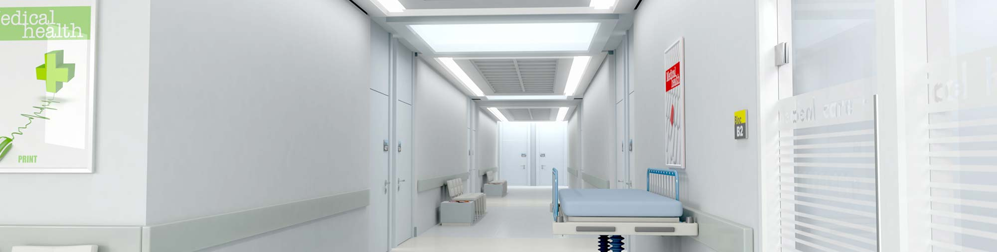 Hallway of a hospital wing